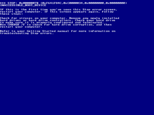 Blue screen of death, Windows 2000.