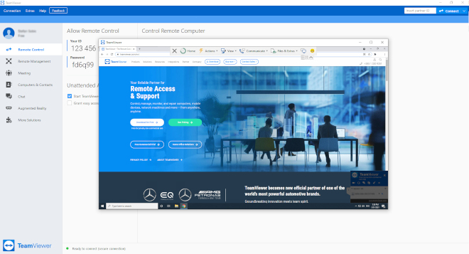 TeamViewer Remote Access and Control screenshot