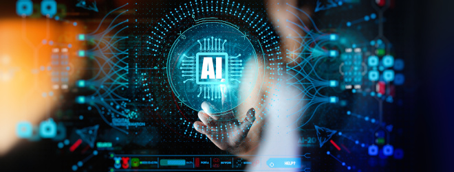 An abstract image of artificial intelligence (AI) interplay. Courtesy Adobe.