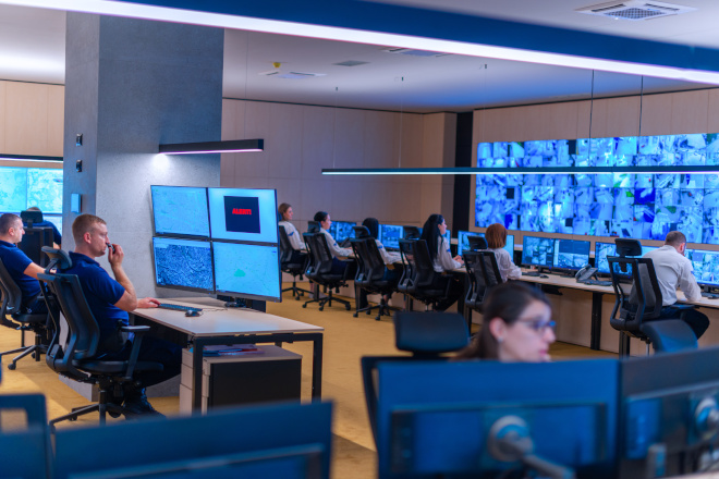 employees cybersecurity monitors center