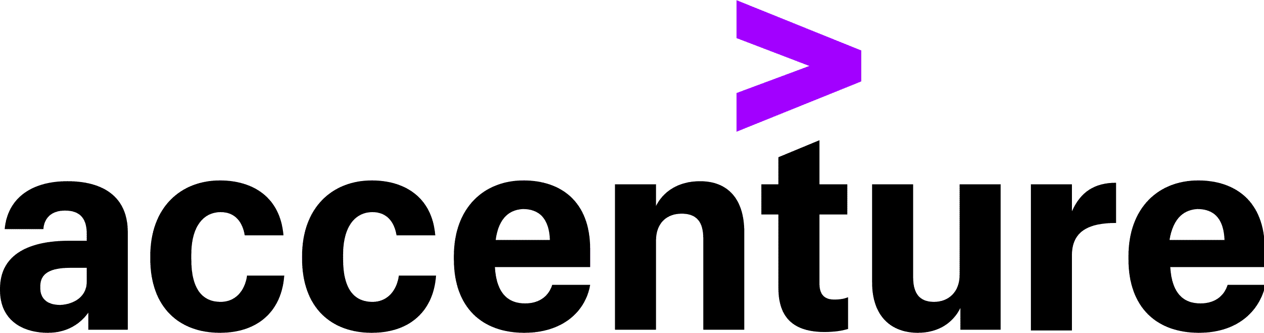 The logo for Accenture